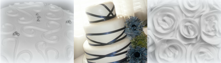 Provo Wedding Cakes white and blue